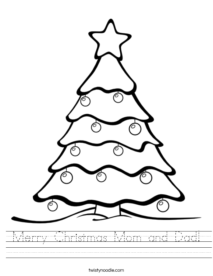 Merry Christmas Mom and Dad! Worksheet