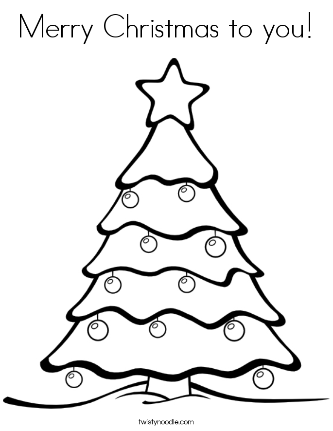 Merry Christmas to you! Coloring Page