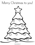 Merry Christmas to you!Coloring Page