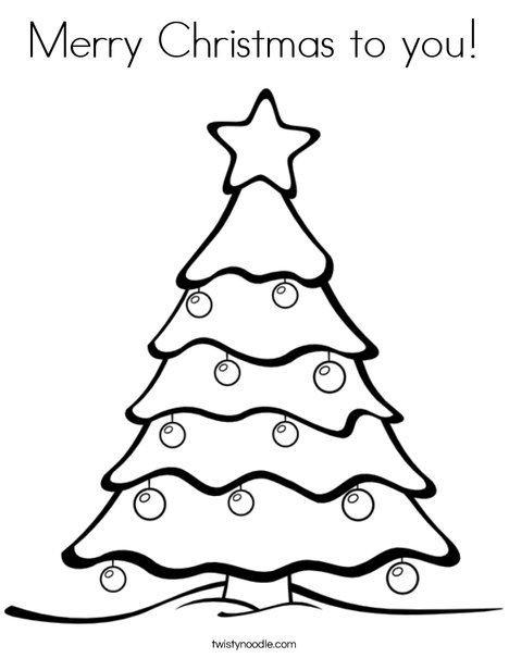 Merry Christmas To You Coloring Page