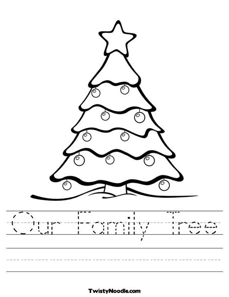Family Tree Worksheets Template My Picture