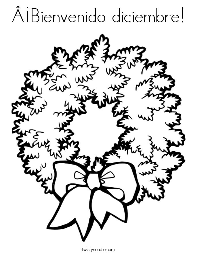 ¡Bienvenido diciembre! Coloring Page