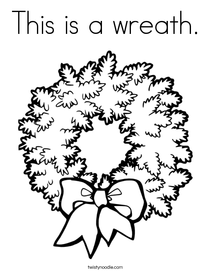 This is a wreath. Coloring Page