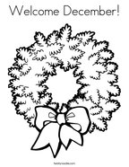 Welcome December Coloring Page