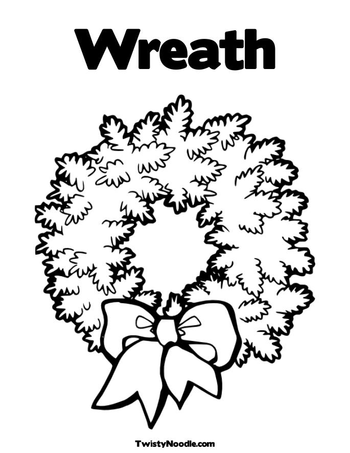 Outline Of A Wreath