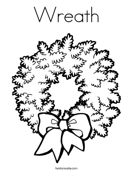 Wreath Coloring Page - Twisty Noodle