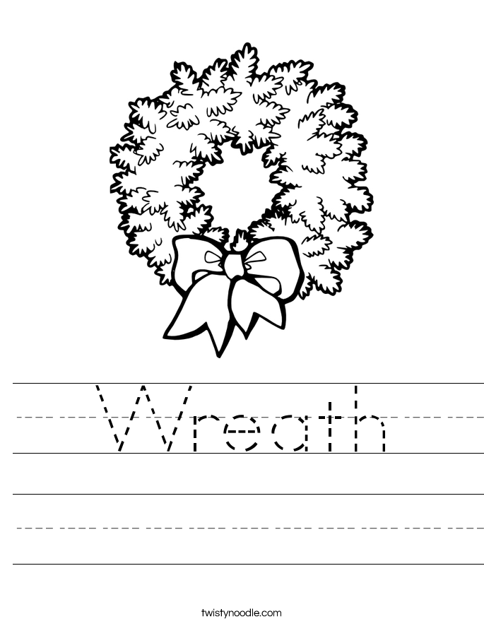 Wreath Worksheet