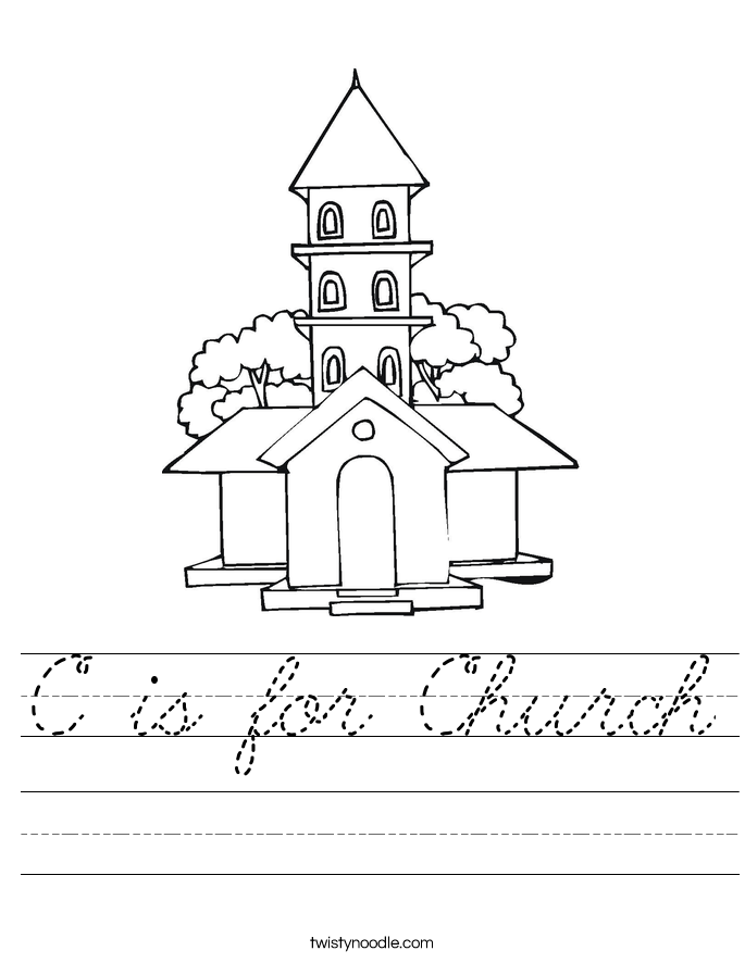 C is for Church Worksheet