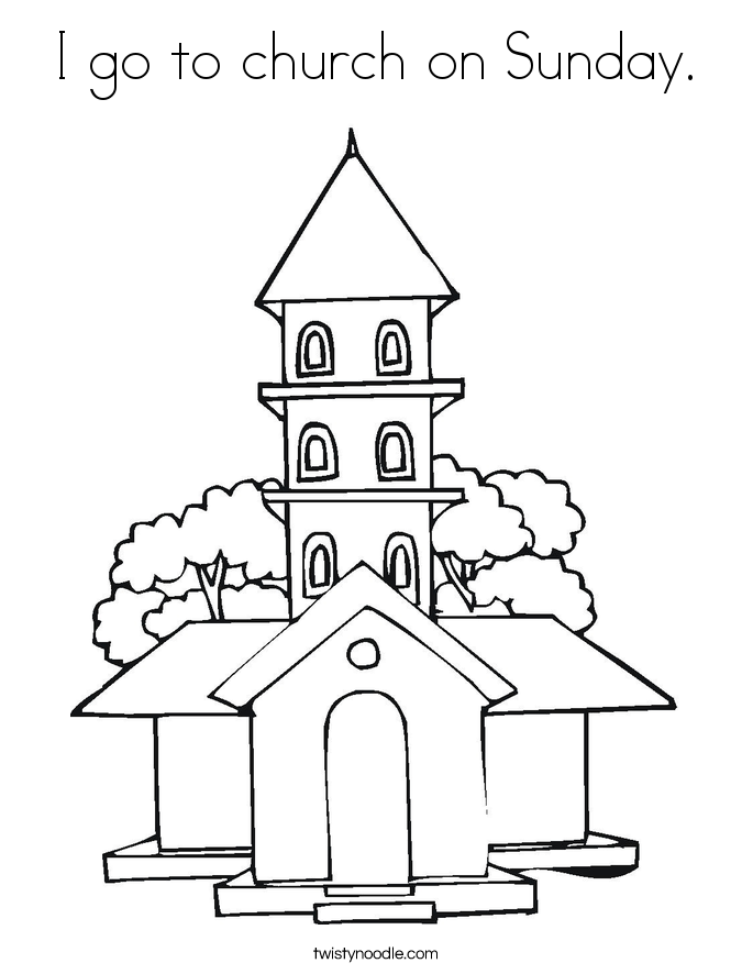 Going To Church Colouring Pages Sketch Coloring Page