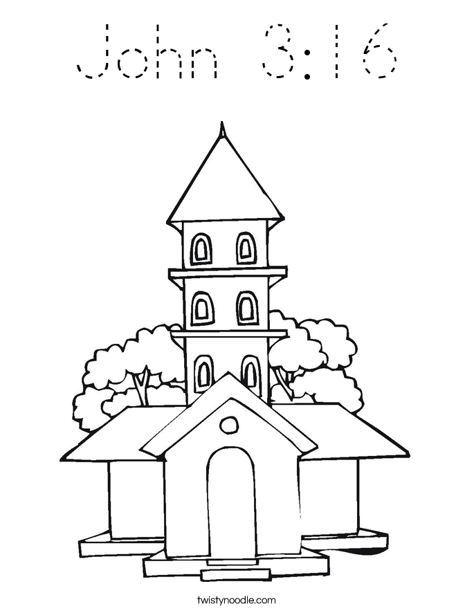 john 3 coloring pages   John 3:16 Coloring Page - Tracing - Twisty Noodle