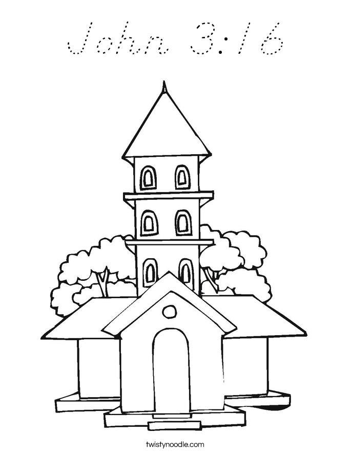 John 3:16 Coloring Page