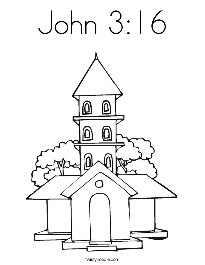 john 3 16 coloring pages - photo#5