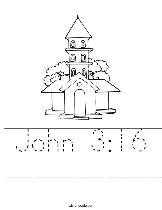 John 3:16 Worksheet