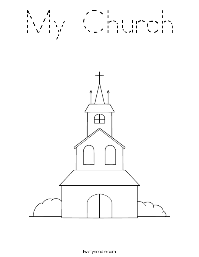 My Church Coloring Page