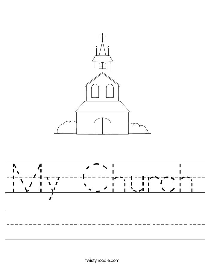 My Church Worksheet