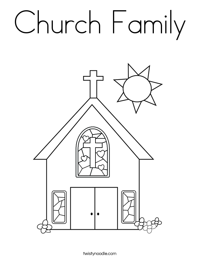 Church Family Coloring Page Twisty Noodle