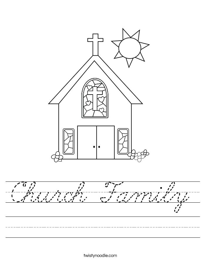 Church Family Worksheet