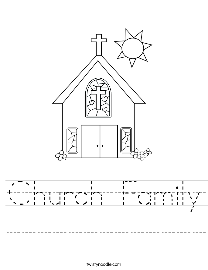Church Family Worksheet