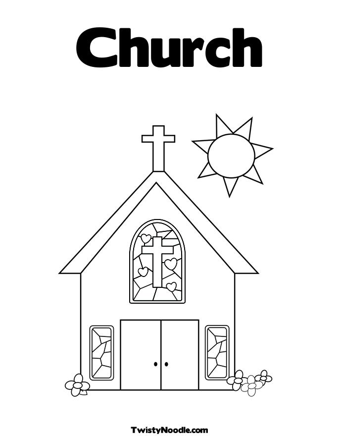 church building coloring pages - photo#1