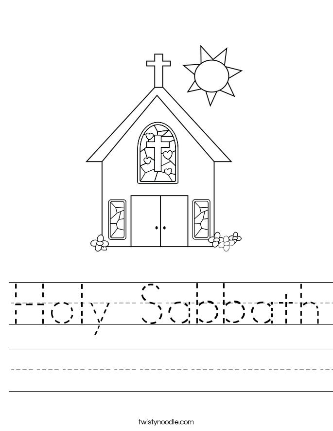Holy Sabbath Worksheet