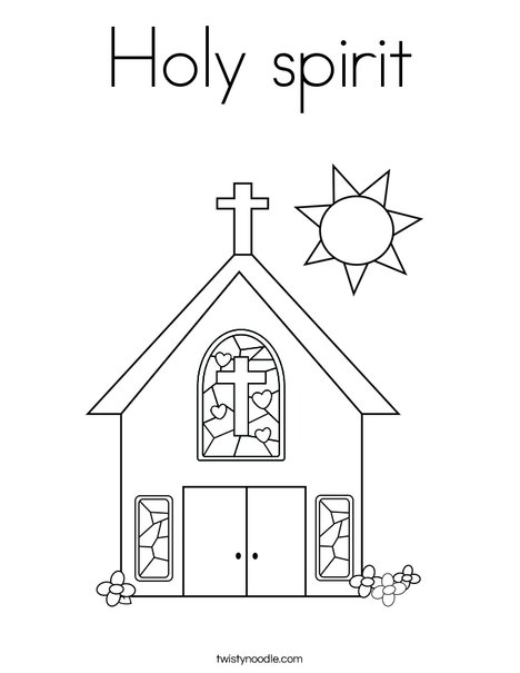 Holy spirit Coloring Page - Twisty Noodle