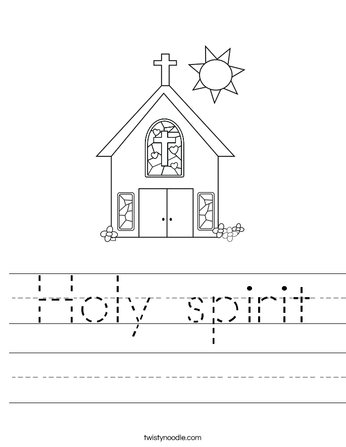 Holy spirit Worksheet