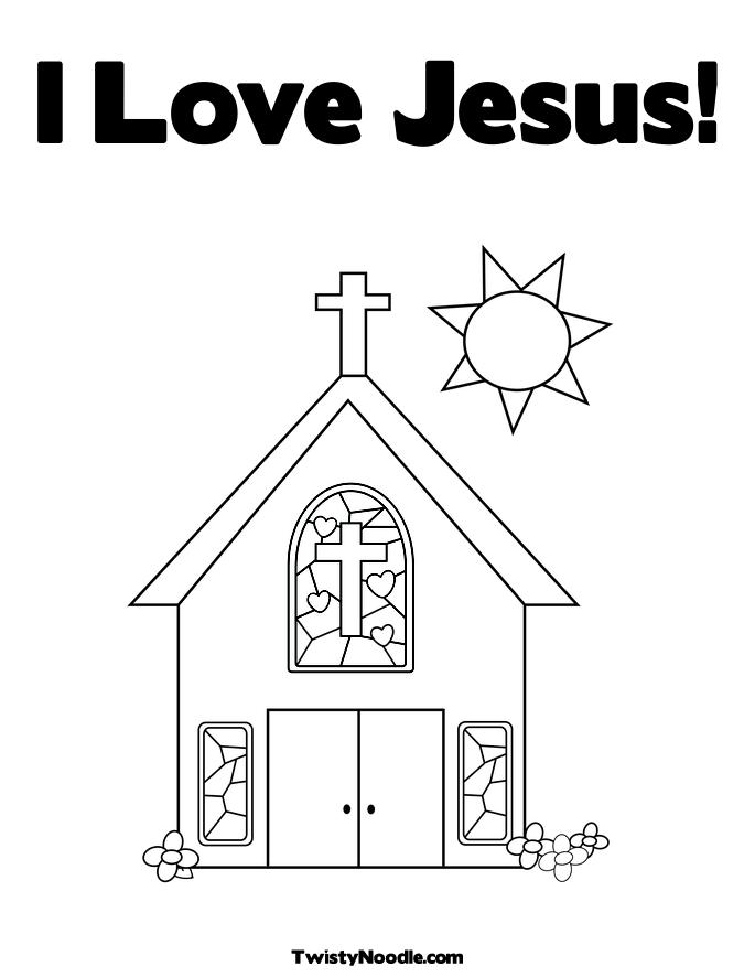 jesus loves you coloring pages - photo#31