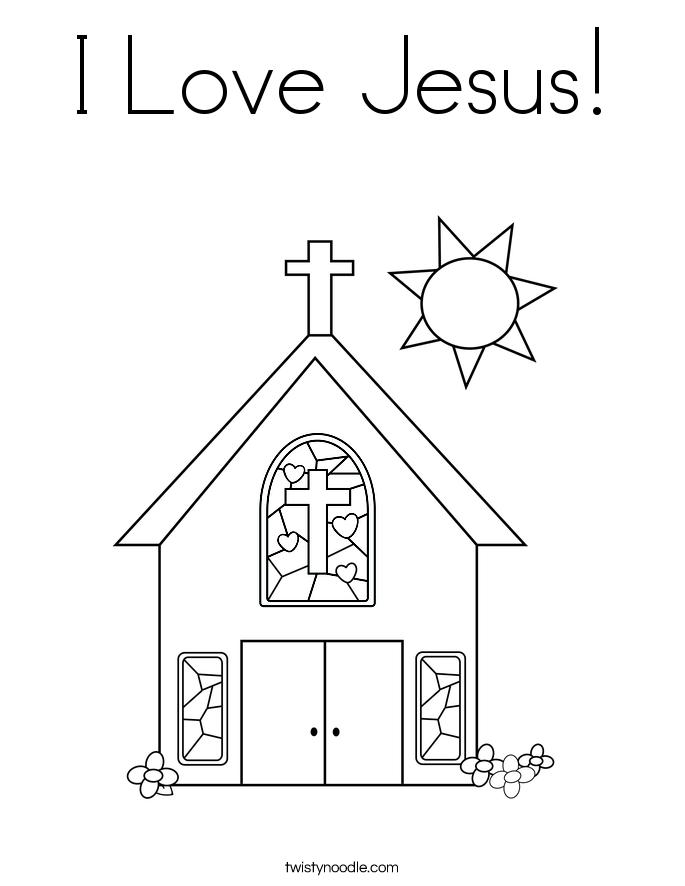 Jesus Is Love Coloring Printables - Worksheet & Coloring Pages
