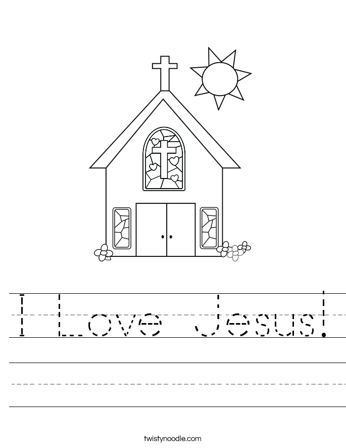 I Love Jesus! Worksheet
