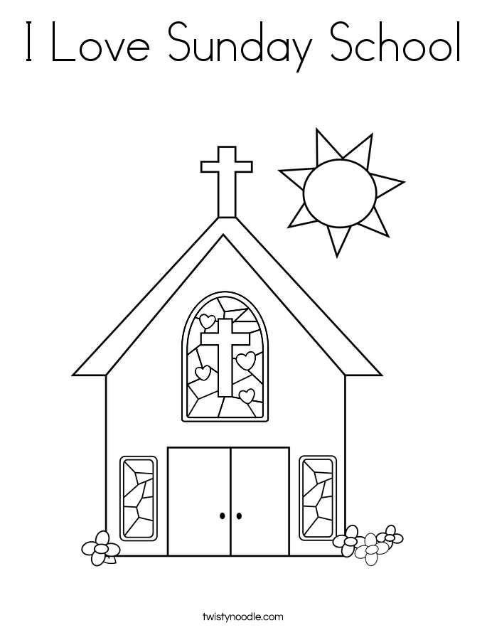 I Love Sunday School Coloring Page Twisty Noodle Sunday School Coloring Pages