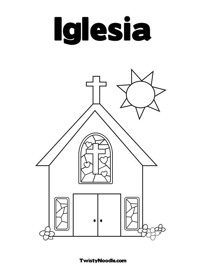 Dibujo De Una Iglesia Para Colorear
