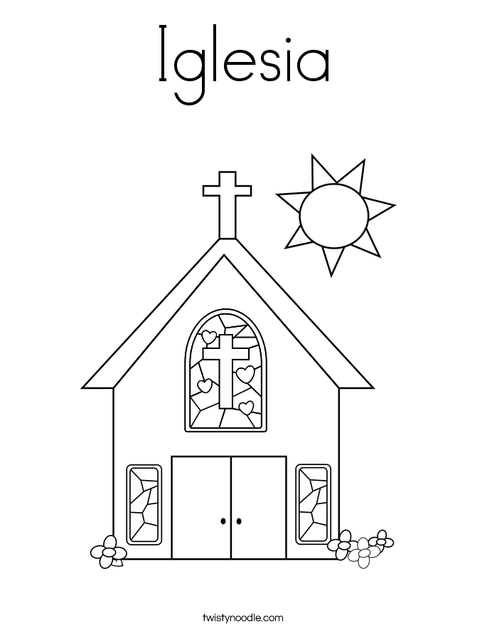 Iglesia Coloring Page