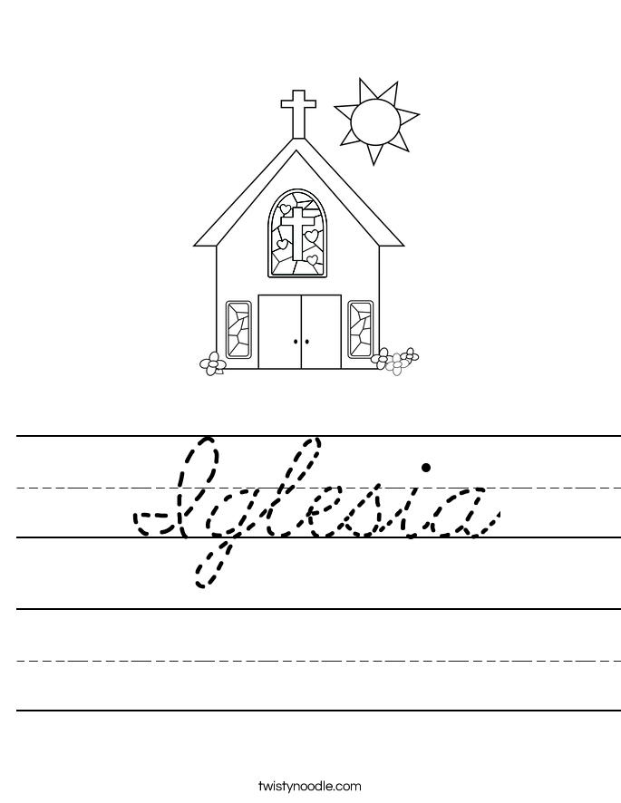 Iglesia Worksheet