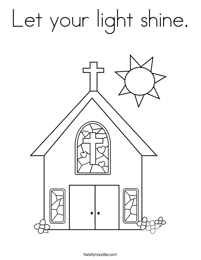 Let Your Light Shine Coloring Page Twisty Noodle Let Your Light Shine Coloring Page