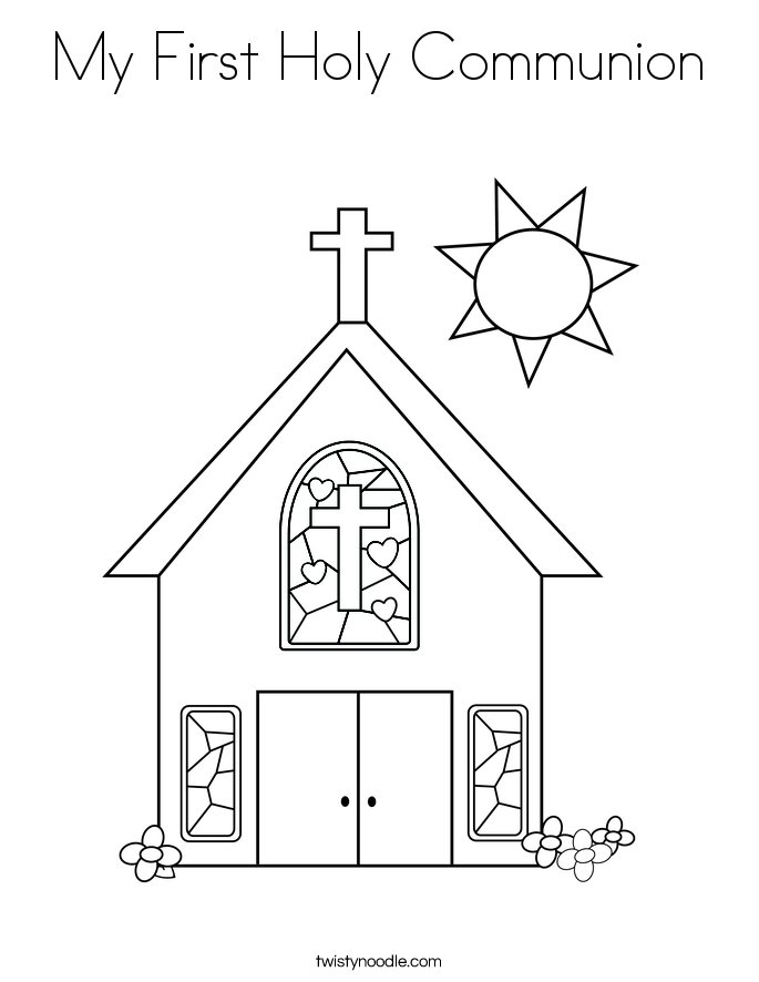My First Holy Communion Coloring Page