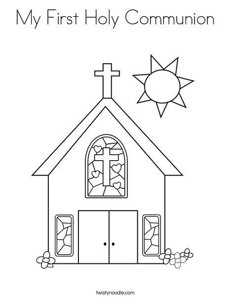 My First Holy Communion Coloring Page - Twisty Noodle