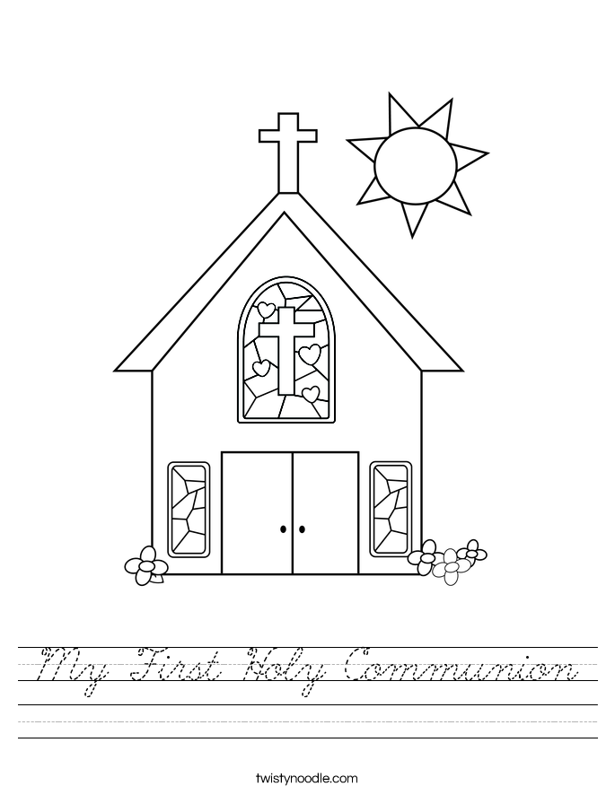 My First Holy Communion Worksheet
