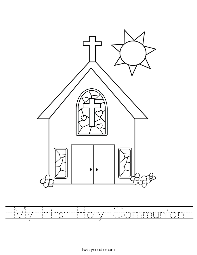 Pictures First Communion Worksheets - Getadating