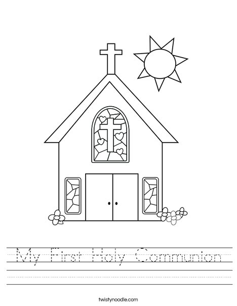 My First Holy Communion Worksheet - Twisty Noodle