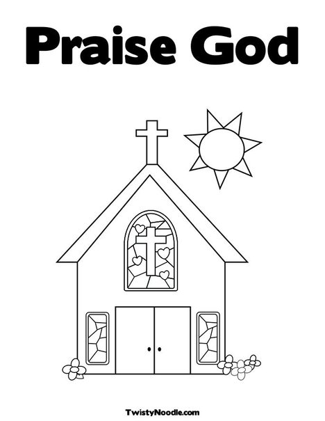 Raise God Colouring Pages