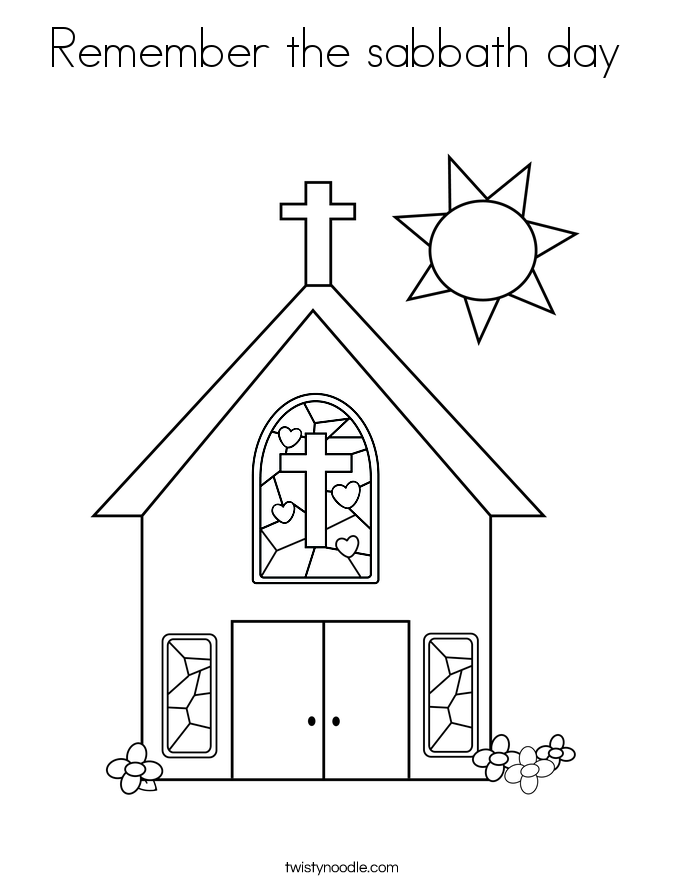 Remember The Sabbath Day Coloring Page.