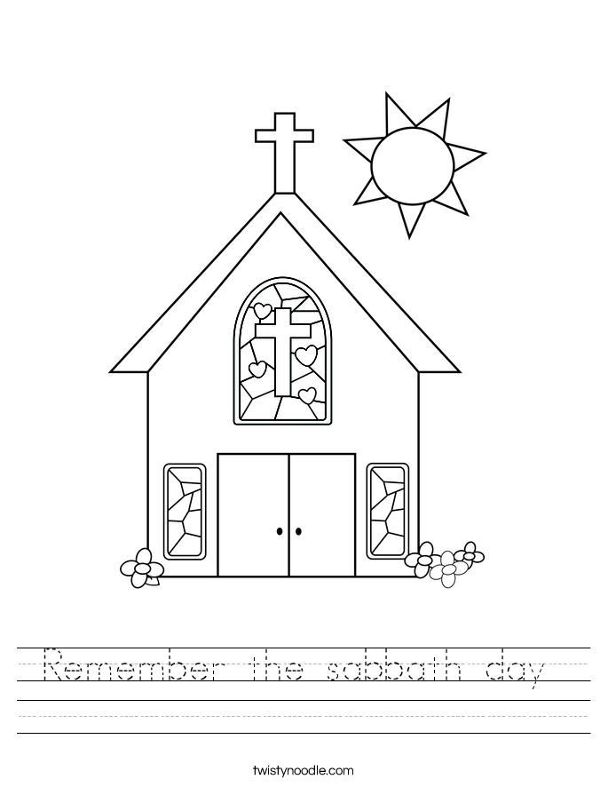 Remember the sabbath day  Worksheet