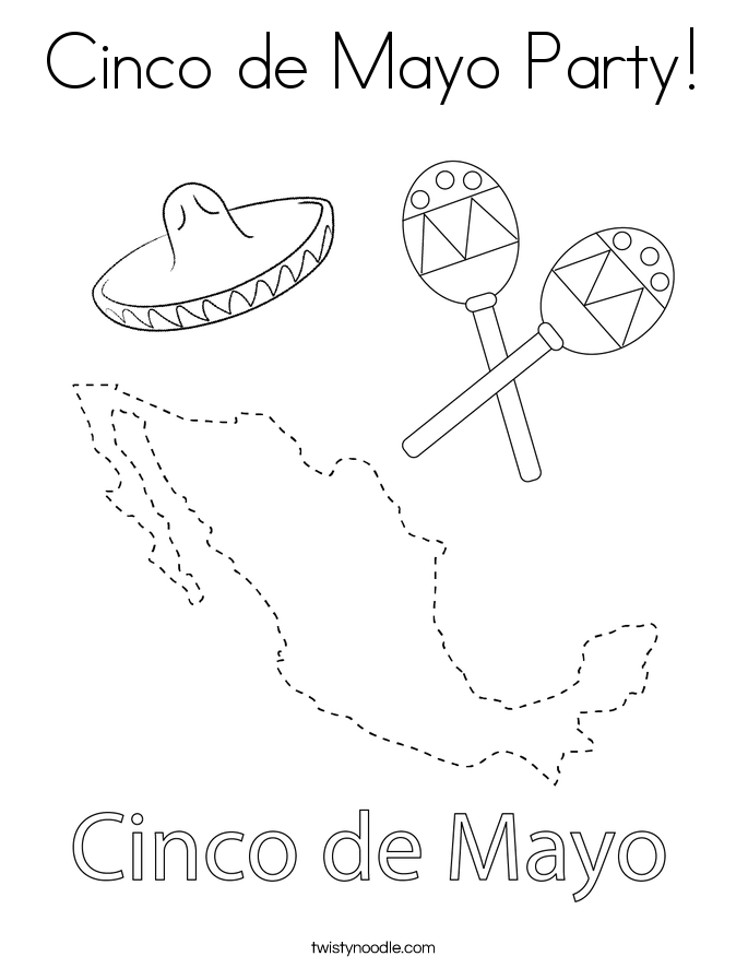 Cinco de Mayo Party! Coloring Page