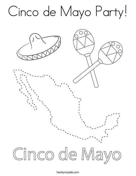Cinco de Mayo on Mexico Coloring Page