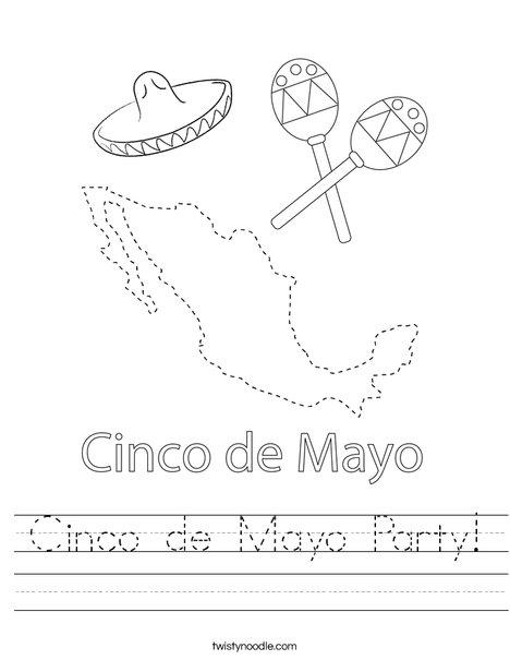 Cinco de Mayo on Mexico Worksheet