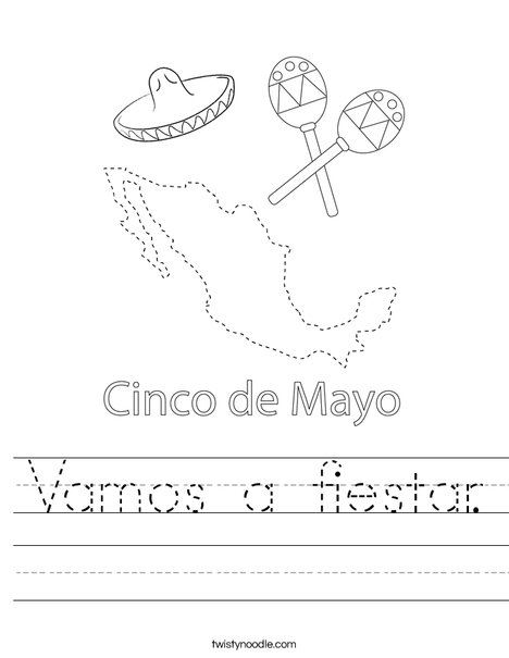 Cinco de Mayo on Mexico Worksheet