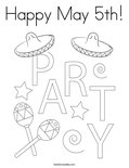 Happy May 5th! Coloring Page
