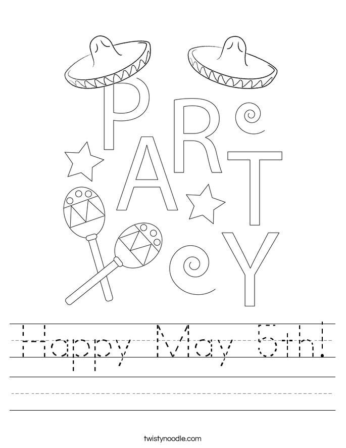Happy May 5th! Worksheet