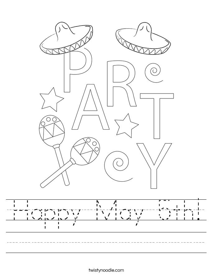 Happy May 5th! Worksheet
