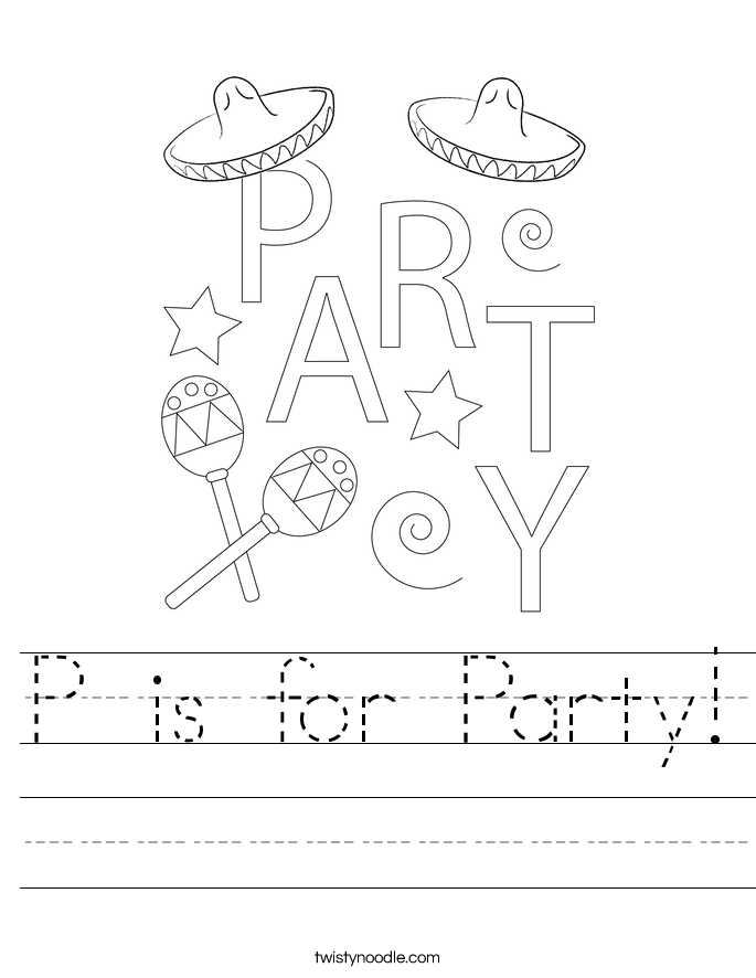 P is for Party! Worksheet